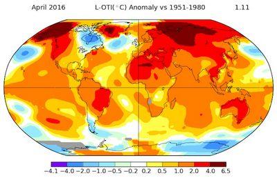 Апрель-2016: очередной печальный температурный рекорд
