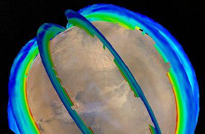 Астрономы впервые составили карту марсианских пыльных бурь
