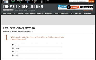 Что знают о зеленой энергетике читатели «the wall street journal»?