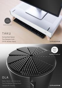 Cryorig ola и taku — необычные корпуса для компьютеров на базе системных плат mini-itx