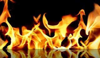 Дети сожгли пьяного мужчину