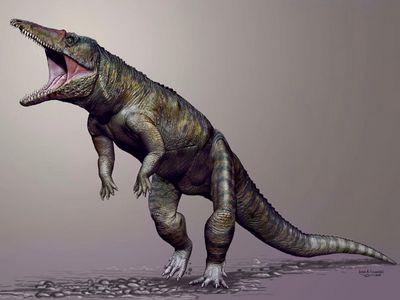 Додинозавров наземле властвовали огромные крокодилы