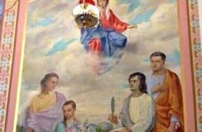 Фреска с ликом порошенко переплюнула золотой унитаз януковича - «новости дня»