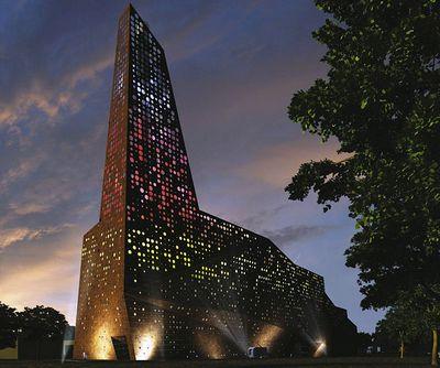 Энергетическая башня с удивительным дизайном в дании