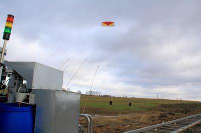 Энергетический воздушный змей взлетает в германии