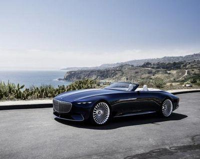 Компания mercedes-benz показала роскошный электромобиль vision mercedes-maybach 6 cabriolet