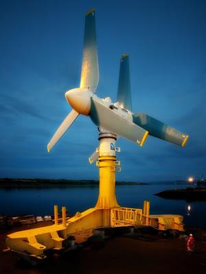 Крупнейшая приливная турбина ak1000 представлена компанией atlantis