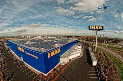 Крупнейшая в австралии солнечная система на крыше магазина ikea