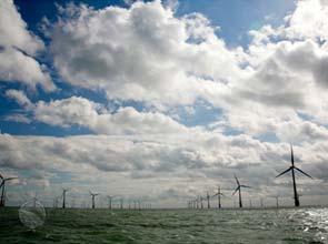 Крупнейшая в мире ветряная морская электростанция запущена в великобритании