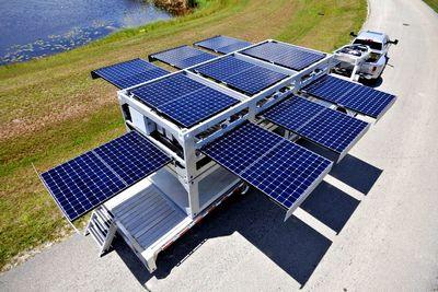 Мобильная солнечная электростанция доставит электричество куда угодно