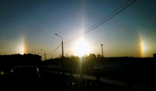 "Над челябинском взошло ""три солнца"""