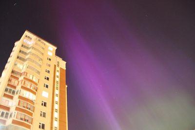 Над москвой зажглось полярное сияние: фото читателя