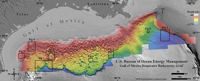 Опубликована самая подробная донная карта мексиканского залива