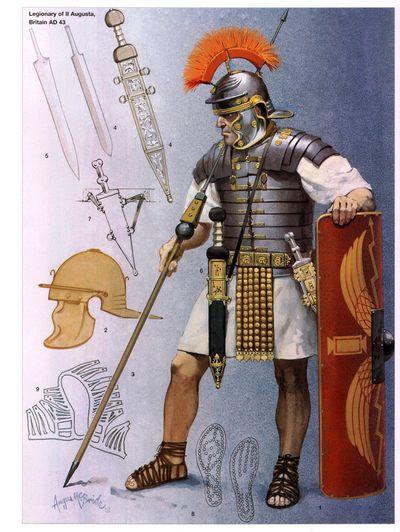 Пластинчатые доспехи римской армии: lorica segmentata