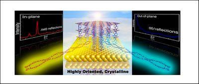 Получены плёнки координационных полимеров с согласованной ориентацией пор и молекул