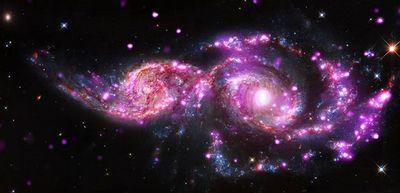 Получены удивительные изображения сливающихся галактик