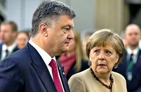 Порошенко получил «затрещину» от меркель за кровь на донбассе - «новости дня»