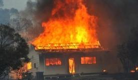 Пожар в дагестанском селе