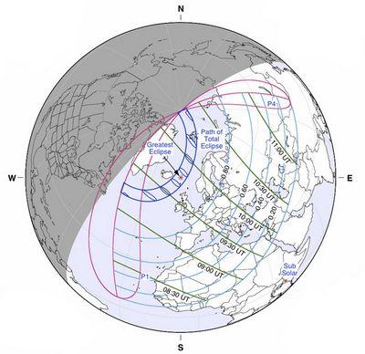 Солнечное затмение 20марта: где икак смотреть