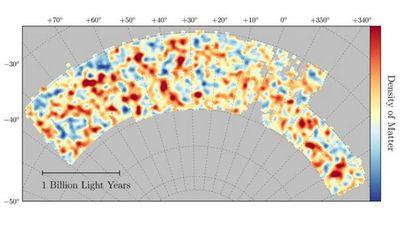 Составлена самая точная карта темной материи во вселенной