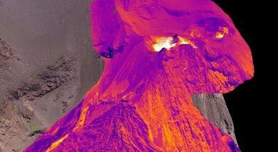 Создано первое в мире трехмерное тепловое изображение активного вулкана