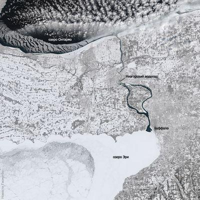 Спутники запечатлели замороженный восток сша