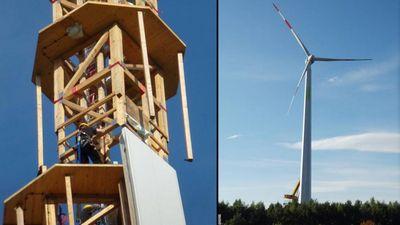 Timbertower - первая в мире деревянная ветряная турбина