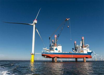 Установка новых 150-метровых ветровых турбин на gunfleet sands iii
