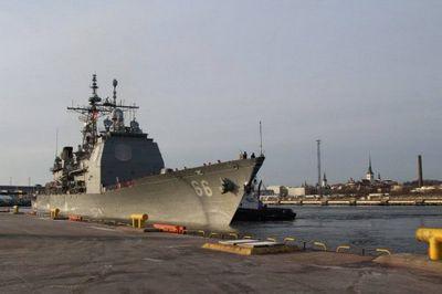 В эстонию с визитом прибыл ракетный крейсер вмс сша - «военные действия»