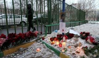 В москве простились с убитыми в школе 263