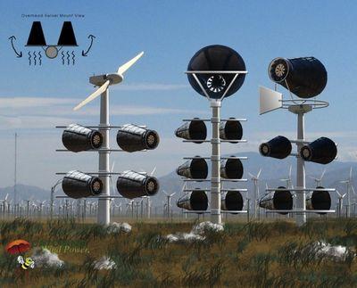 Ветеран второй мировой изобретает дружественную птицам ветряную турбину
