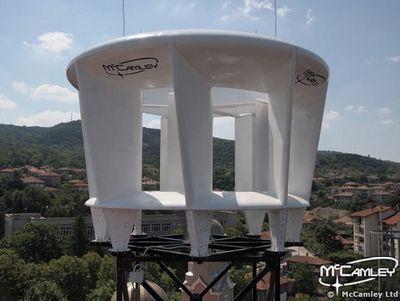 Ветровая турбина, размером с водяную цистерну