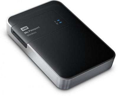 Внешний жесткий диск wd my passport wireless оснащен интерфейсами wi-fi и usb 3.0, а также слотом microsd