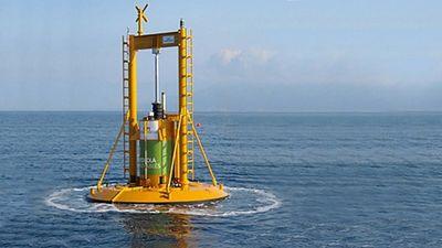 Волновая электростанция у берегов австралии