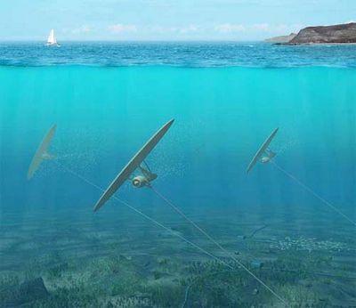 Воздушный змей осваивает морские глубины