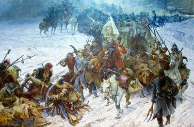 Взятие снежного городка - «военные действия»