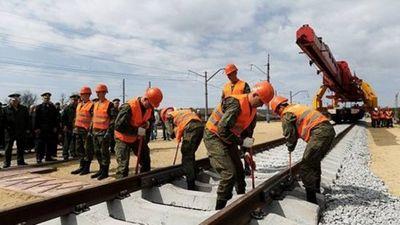 Жд войска возобновили работы по прокладке путей в обход украины - «военные действия»